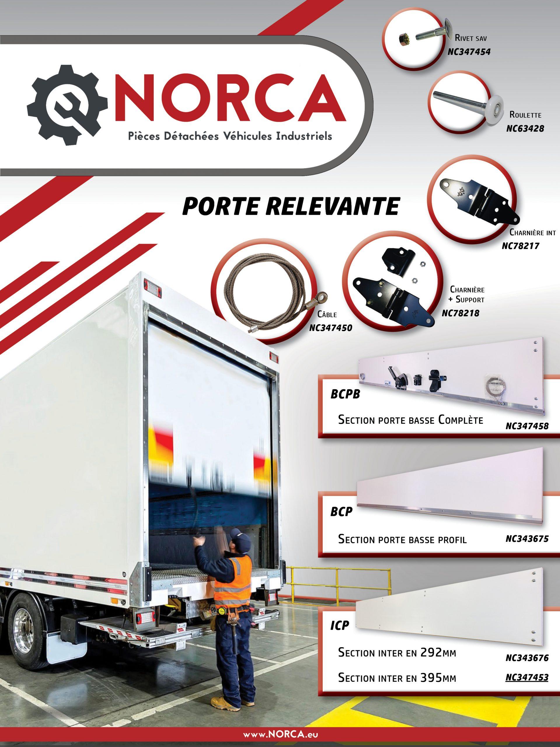 Affiche Porte Relevantes Bois NORCA WEB II