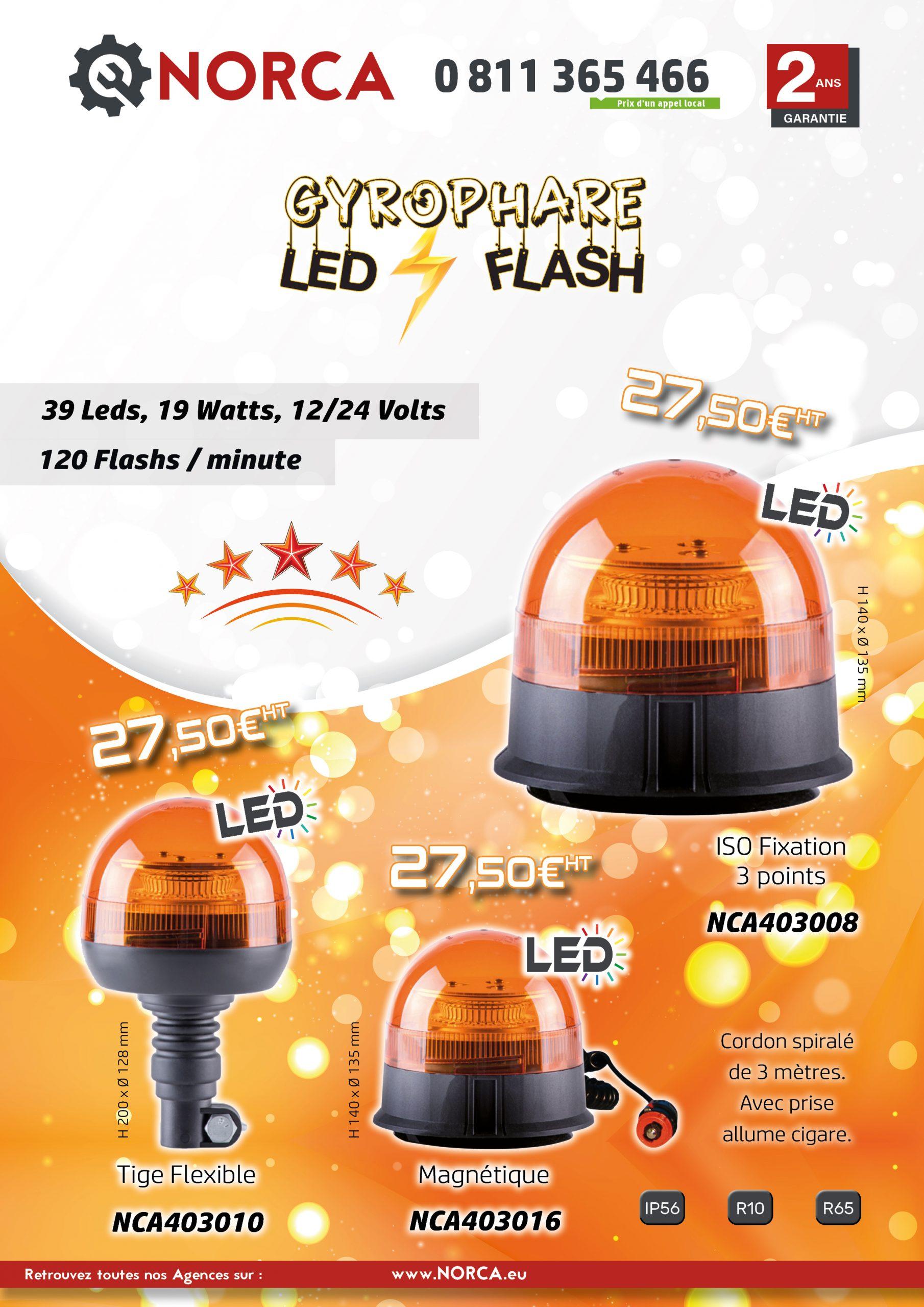 OP Gyrophares LED Flash NORCA